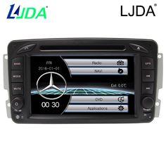 """LJDA Wholesales 2din 7"""" Touch Screen Car DVD Player Autoradio GPS Navigation for Mercedes Benz W203 W208 W209 W210 W463 Viano  #Affiliate"""