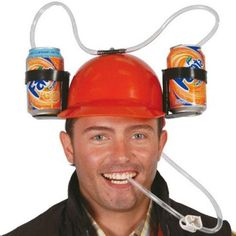 With the Drinking Helmet you'll be able to make the most of concerts or sport events without having to hold your drink in your hand. Supports compartments for cans or cups. Available in various designs that are sent at random according to stock av. Isle Of Man, Joke Gifts, Funny Gifts, Fancy Dress, Fitness, Cool Things To Buy, Helmet, Jokes, The Incredibles