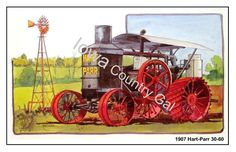 NEW 1907 HART-PARR 30-60. TRACTOR LAMINATED PLACEMATS / WALL HANGINGS SET OF 4 #HartParr