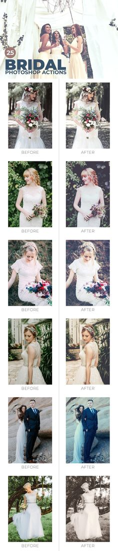 Buy 25 Bridal Photoshop Actions by creativetacos on GraphicRiver. Bridal Photoshop Actions are specially designed for bridal photography to make wedding photos look more beautiful. Photoshop Photos, Photoshop Tutorial, Photoshop Actions, Adobe Photoshop, Bridal Photography, Portrait Photography, Photoshop Photography, Creative Sketches, Photo Effects
