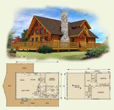 lakefront II log home and log cabin floor plan (One of my favorites!)  ♣  13.12.25