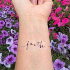 Faith Tattoo Arm Tattoo Temporary Tattoo Fake Tattoo