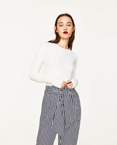 Image 2 of TROUSERS WITH BELT from Zara