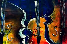 instruments 100 x 70 cm acrylic on canvas