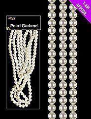 Christmas Tree Bead Garland | 1.6 Metre Pearl Bead Garland - Pearl Beads For Christmas Tree Decoration
