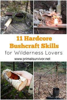 """11 Bushcraft Skills Hardcore Wilderness Lovers Will Want to Master Now.There is nothing like going into the wilderness with nothing but a few basic supplies and your own wits. I know that I'm not alone in this thought. There's recently been a huge surge in people learning bushcraft skills. In short, bushcraft is a way to enjoy nature without feeling pressure that there is a """"right"""" or a """"wrong"""" way of doing it. #bushcraft #outdoorlife #survivalgear #primitive #offthegrid"""