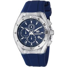 Technomarine Watch, Chronograph Cruise Original 40mm Blue Silicone Strap 111004
