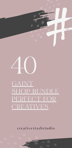 This is an elegant and stylish 40 in 1 collection perfect for creative entrepreneurs, fashion bloggers, beauty bloggers, lifestyle bloggers, Creative bloggers, fashion companies, and other small businesses. #branding #socialmedia #sale