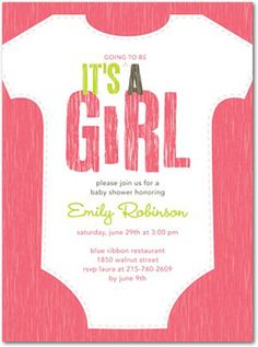 Cute invitation idea since we'll have guests decorate onesies! @Jamie Paxton Dyer Klein @Julia Johnson