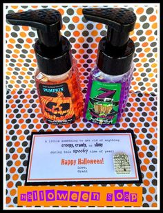 Halloween Soap. From Marci Coombs Blog