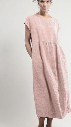 #antico  #di  #lino  #rosa  #tunica - Rosita Colantoni #Tunica #di #lino  Tunica di lino rosa antico -