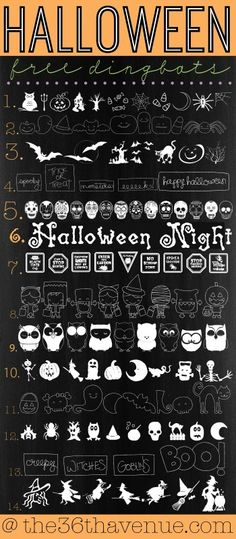 The 36th AVENUE | Halloween Free Fonts Dingbats