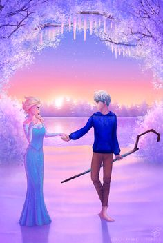 aikaterynne:  Elsa and Jack Frost for all you Jelsa fans out there c: