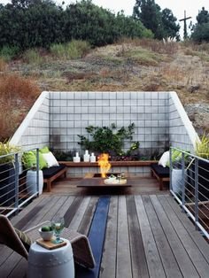 Love this! But I'd add a rug, table and umbrella, fountain, grill, tiki torches, and twinkle lights. 25 Ideas for Gardens Designs