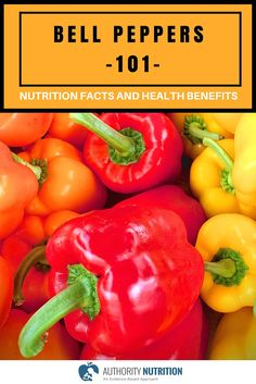 This is a detailed article about bell peppers and their health effects. Nutrient content, plant compounds, health benefits, adverse effects and more. Learn more here: https://authoritynutrition.com/foods/bell-peppers/
