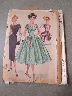 Vintage McCall's 4357 Sewing Pattern 1950s Dress by sewbettyanddot