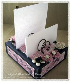 Genius - note holder made using the bind-it-all