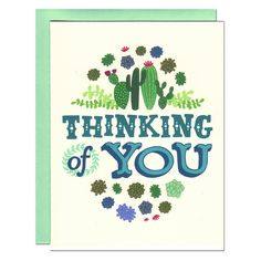 Hannah Zakari - SucculentsThinking of You Card