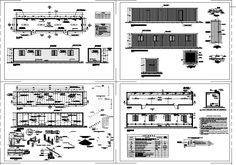 Offices in recycled marine containers (dwgAutocad drawing)