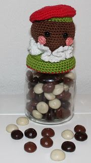 Dekselse Potjes Crochet For Kids, Free Crochet, Japanese Crochet, Crochet Kitchen, Jar Lids, Free Pattern, Diy And Crafts, Projects To Try, Glass