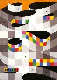 https://flic.kr/p/9fis7y | Olivetti 1953 | Design by Herbert Bayer.