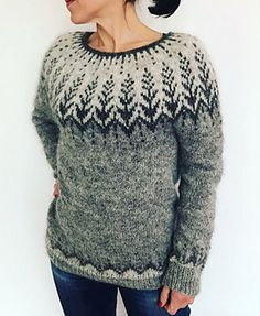 Ravelry: geraknits' Vintersol Sweater Testknit Double Knitting Patterns, Fair Isle Knitting Patterns, Sweater Knitting Patterns, Hand Knitting, Knitting Sweaters, Icelandic Sweaters, Knit Or Crochet, Chrochet, Sweater Design