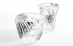 Sparkle is a series of opulent stools and side tables by Tokujin Yoshioka for Italian brand Kartell
