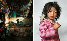 Where Children Sleep is a project by photographer James Mollison that shows children from around the world and where they sleep at night. http://altering-perspectives.com/2013/11/thats-just-old-dirty-couch-really-shocked-core.html
