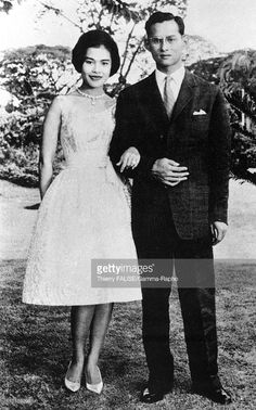 King Bhumibol and Queen Sirikit in Thailand in 1949 Get premium, high resolution news photos at Getty Images Elizabeth Ii, Jean Paul Ii, Queen Sirikit, Thailand Photos, Bhumibol Adulyadej, Great King, King Of Kings, King Queen, Royalty Free Stock Photos