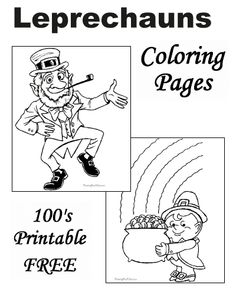 Free Printable Leprechaun Coloring Pages For St Patricks Day Are Fun Kids