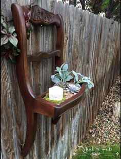 Please vote!!! Contest Entry: Broken chair turned Succulent Planter! | General Finishes 2016 Design Challenge