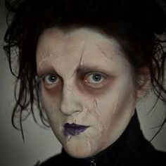 This perfectly scarred Edward. | 25 Chilling Tim Burton Costumes You Should Try This Halloween