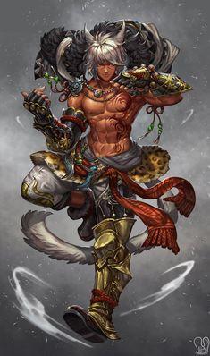 Commission : kirostyle by Sa-Dui on DeviantArt Fantasy Male, Fantasy Warrior, Dark Fantasy Art, Fantasy Character Design, Character Inspiration, Character Art, Dungeons And Dragons Characters, Fantasy Characters, Samurai Concept