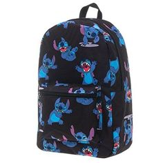 Disney Lilo And Stitch Sublimated Backpack Black in Clothing, Shoes & Accessories, Unisex Clothing, Shoes & Accs, Unisex Accessories | eBay