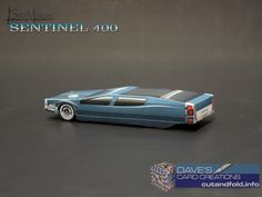 Syd Mead Sentinel 400 Paper Model by Dave Winfield - Dave's Card Creations © www.cutandfold.info Paper Model Car, Paper Models, Paper Toys, Paper Crafts, Syd Mead, Famous Movies, Old Paper, Custom Cars, Scale Models