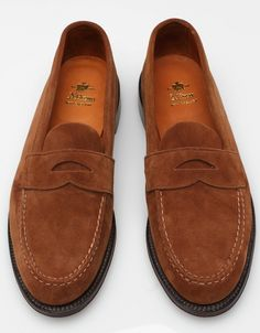 unlined penny loafers by alden