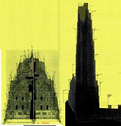 Beniamino Servino. 36 crosses Cathedral and the Bell Tower. [Il campanile è costruito su un disegno di/The bell tower is superimposed on a drawing by Vittoriano Viganò].