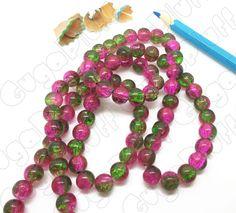 Perle vetro crackle (misura 8mm) - www.gugapluff.it