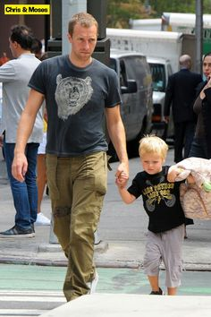 Aww Chris and baby Moses