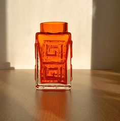 Whitefriars tangerine glass