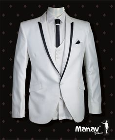 The thing about a Tuxedo is that it is virile and feminine at the same time. 5 piece royal white Tuxedo suit for a classy gentlemen #SuitUp #Tuxedo #Italian #Virile #Feminine #Classy #Gentlemen #GentlemenStyle #Dapper #Tux #AllDressedUp #Fashion #Style #MensFashion #MensStyle #MensWear