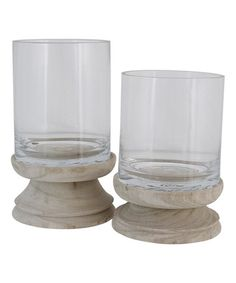 Take a look at this Beige Shira Hurricane Candleholder Set by The Import Collection on #zulily today!