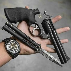 The The Rolls Royce of revolvers, the Mongoose 357 Magnum built by Korth. A totally cool piece of art.