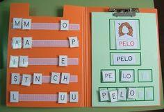 Área: Lenguaje (Unión de fonemas) Objetivo: Que el niño sea capaz de identificar los fonemas que componen una palabra Estrategia: Estímulo semi-concreto Actividad: El niño deberá segmentar la palabra por fonemas y luego por sonidos independientes (sonido de cada letra) Material: Carpeta, letras e imágenes encimadas  Tiempo: 15 min