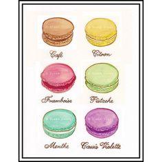 Laduree Bag Printable | Original Watercolour Painting Print - Laduree Macarons - Ladurée