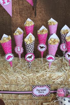 Cowgirl birthday party - or you can change themes I want this for skylars bday, we can use for popcorn too just in our colors and loose the horses!