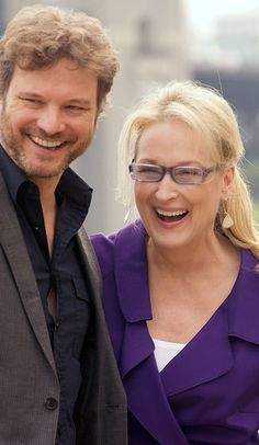With Colin Firth