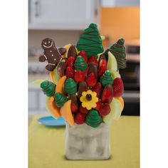 Deck The Halls Blossom scent free fruit bouquet are great for all occasions and make great gifts ideas or decorations from a proud Canadian Company. Great alternative to traditional flowers or fruit baskets