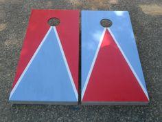 Triangle Cornhole Boards - Klock's Woodworking Shop