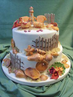 The Beach Wedding  on Cake Central